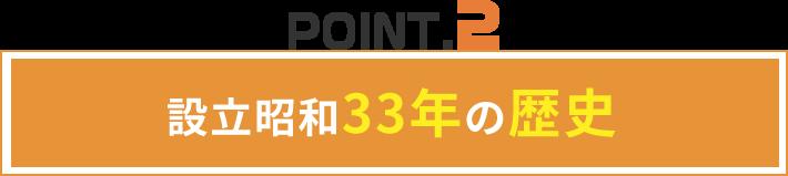 設立昭和33年の歴史
