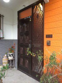 長与町 T様邸 玄関塗装